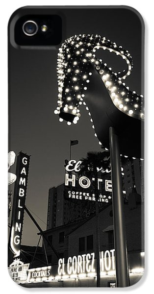 Ruby Slipper Neon Sign Lit Up At Dusk IPhone 5 Case by Panoramic Images