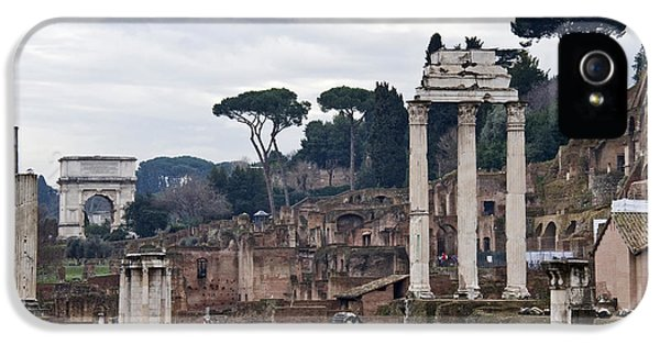 Ruins Of A Building, Roman Forum, Rome IPhone 5 Case by Panoramic Images