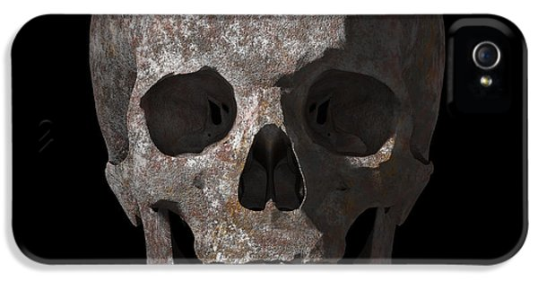 Rusty Old Skull IPhone 5 Case by Vitaliy Gladkiy