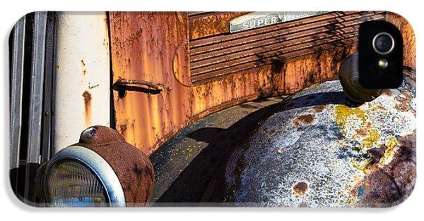 Rusty Truck Detail IPhone 5 Case by Garry Gay