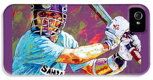 Sachin Tendulkar IPhone 5 / 5s Case by Maria Arango