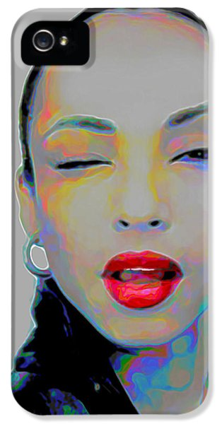 Rhythm And Blues iPhone 5 Case - Sade 3 by Fli Art