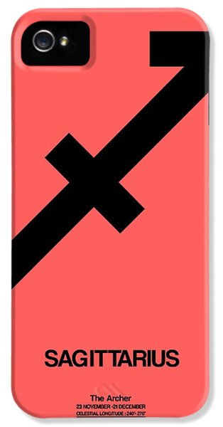 Sagittarius Zodiac Sign Black IPhone 5 Case