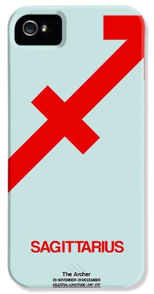Sagittarius Zodiac Sign Red IPhone 5 Case