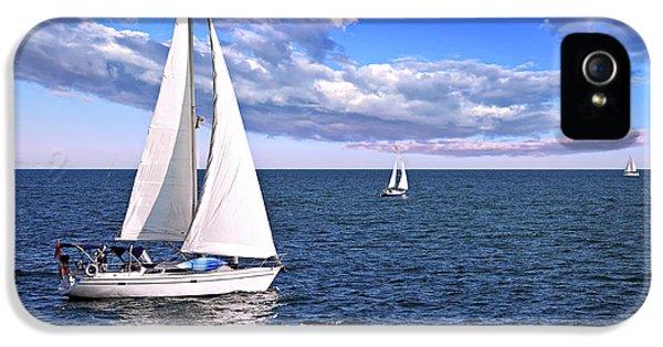 Sailboats At Sea IPhone 5 Case by Elena Elisseeva