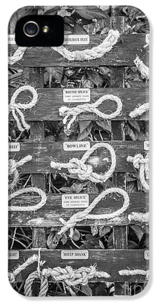 Sailor's Knots Key West - Black And White IPhone 5 Case by Ian Monk