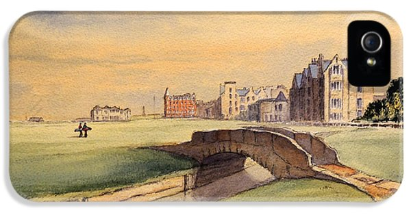Saint Andrews Golf Course Scotland - 18th Hole IPhone 5 Case by Bill Holkham