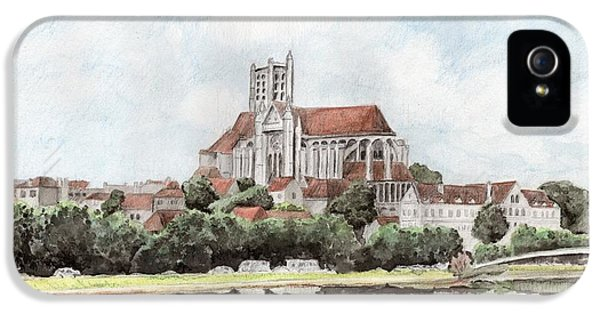 IPhone 5 Case featuring the painting Saint-etienne A Auxerre by Marc Philippe Joly