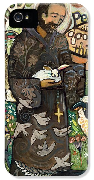 Saint Francis IPhone 5 Case by Jen Norton