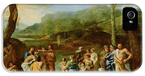 Saint John Baptizing In The River Jordan Nicolas Poussin IPhone 5 Case