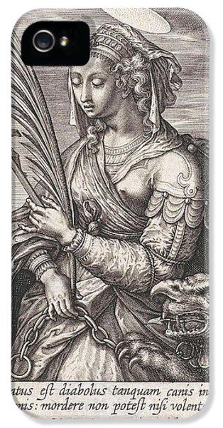 Saint Margaret Of Antioch, Hieronymus Wierix IPhone 5 Case
