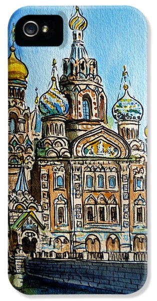 Saint Petersburg Russia The Church Of Our Savior On The Spilled Blood IPhone 5 Case