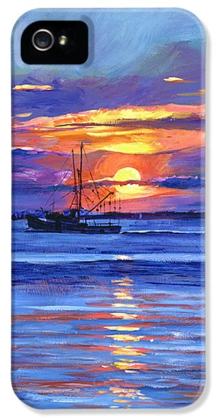 Salmon Trawler At Sunrise IPhone 5 Case