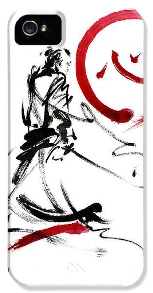 Samurai Enso Circle Wild Fury Bushi Bushido Martial Arts Sumi-e  IPhone 5 Case by Mariusz Szmerdt