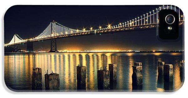 San Francisco Bay Bridge Illuminated IPhone 5 Case by Jennifer Ramirez