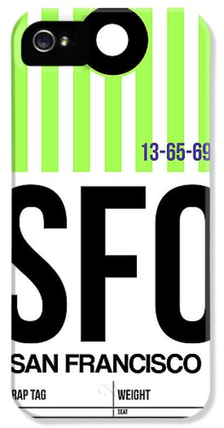 San Francisco Luggage Tag Poster 2 IPhone 5 Case by Naxart Studio