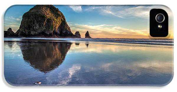 Sand Dollar Sunset Repose IPhone 5 Case by Mike Reid