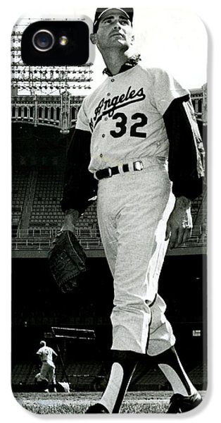 Sandy Koufax Vintage Baseball Poster IPhone 5 Case by Gianfranco Weiss