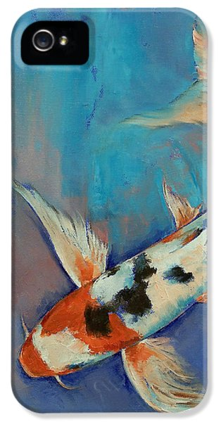Koi iPhone 5 Case - Sanke Butterfly Koi by Michael Creese