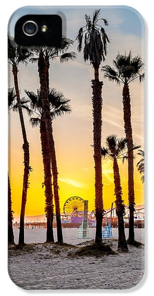 Santa Monica Sunset 2 IPhone 5 Case by Az Jackson