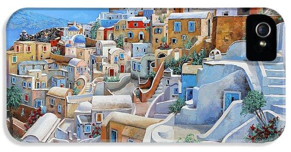 Santorini A Colori IPhone 5 Case by Guido Borelli