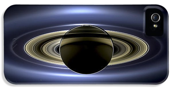 Saturn Mosaic With Earth IPhone 5 Case by Adam Romanowicz