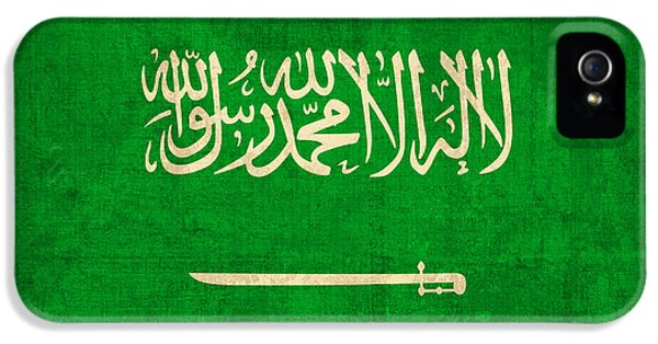 Saudi Arabia Flag Vintage Distressed Finish IPhone 5 Case by Design Turnpike