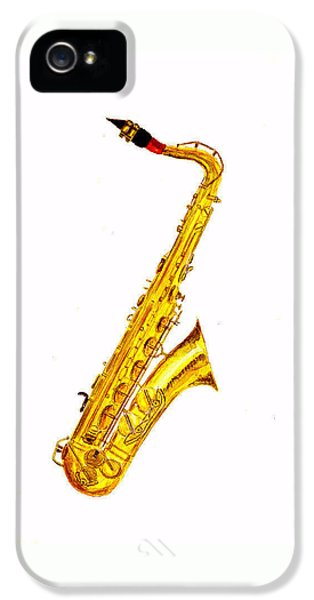 Saxophone iPhone 5 Case - Saxophone by Michael Vigliotti