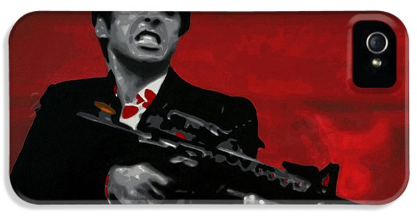 Say Hello To My Little Friend  IPhone 5 Case by Luis Ludzska