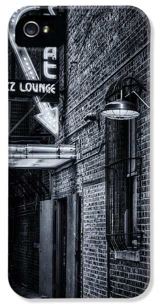 Scat Lounge In Cool Black And White IPhone 5 Case by Joan Carroll