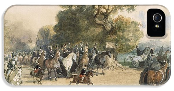 Scene In Hyde Park IPhone 5 / 5s Case by Eugene-Louis Lami