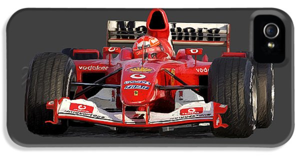 Schumacher - Ferrari F2004 IPhone 5 Case by Charley Pallos