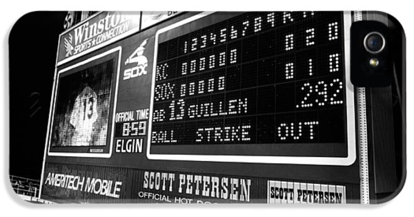 Scoreboard In A Baseball Stadium, U.s IPhone 5 Case by Panoramic Images