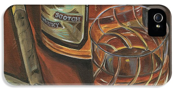 Scotch And Cigars 3 IPhone 5 Case by Debbie DeWitt