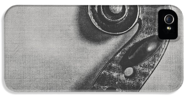 Violin iPhone 5 Case - Scroll In Black And White by Emily Kay