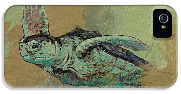 Turtle iPhone 5 Case - Sea Turtle by Michael Creese
