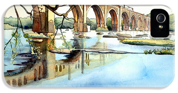 Train iPhone 5 Case - Seaboard Bridge Crossing The James  by Jim Smither