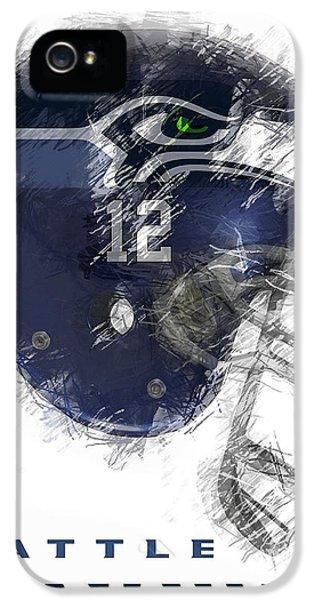 Day iPhone 5 Case - Seahawks 12 by Daniel Hagerman