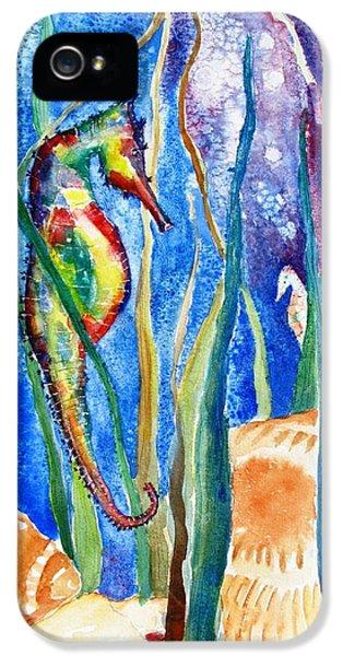 Seahorse iPhone 5 Case - Seahorse And Shells by Carlin Blahnik CarlinArtWatercolor
