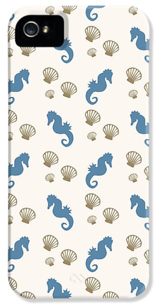 Seahorse And Shells Pattern IPhone 5 Case