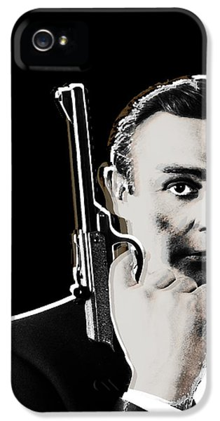 Sean Connery James Bond Vertical IPhone 5 Case by Tony Rubino