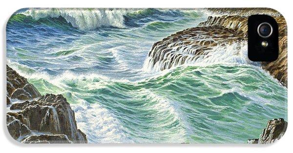 Seascape-devil's Churn-oregon IPhone 5 Case by Paul Krapf