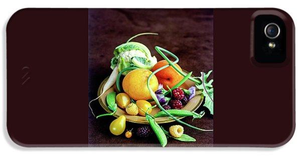 Seasonal Fruit And Vegetables IPhone 5 Case by Romulo Yanes