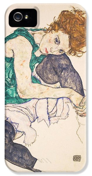 Seated Woman With Legs Drawn Up. Adele Herms IPhone 5 Case