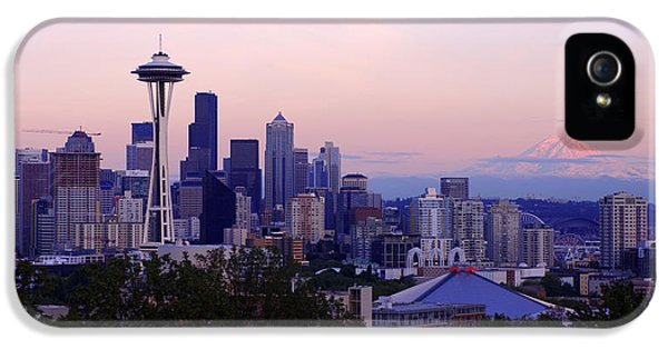 Seattle Dawning IPhone 5 Case by Chad Dutson