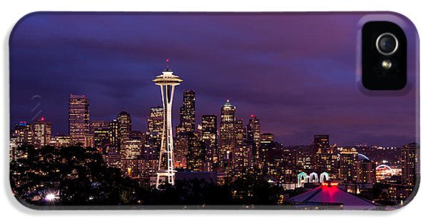 Seattle Night IPhone 5 Case by Chad Dutson