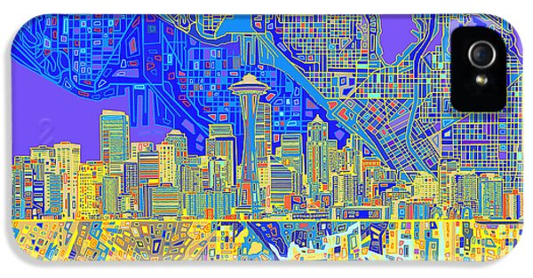 Seattle Skyline Abstract 6 IPhone 5 Case
