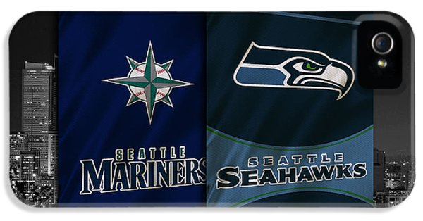 Seattle Sports Teams IPhone 5 Case by Joe Hamilton