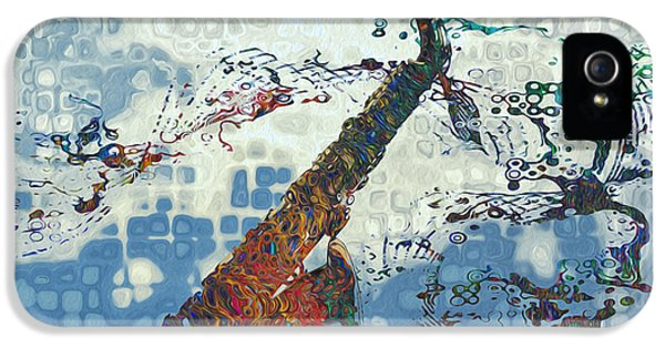 Saxophone iPhone 5 Case - See The Sound 2 by Jack Zulli