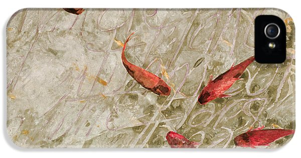 Koi iPhone 5 Case - Sei Pesci Rossi   by Guido Borelli